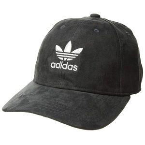 adidas originals // grey suede adjustable logo hat